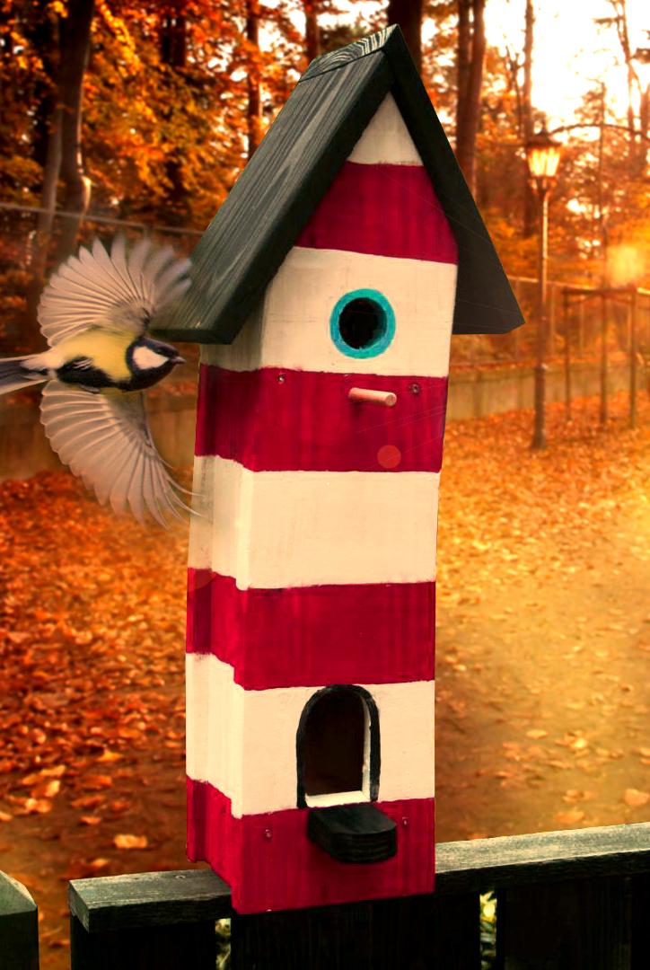 Bird's Bar: Gestaltung der Häuschen