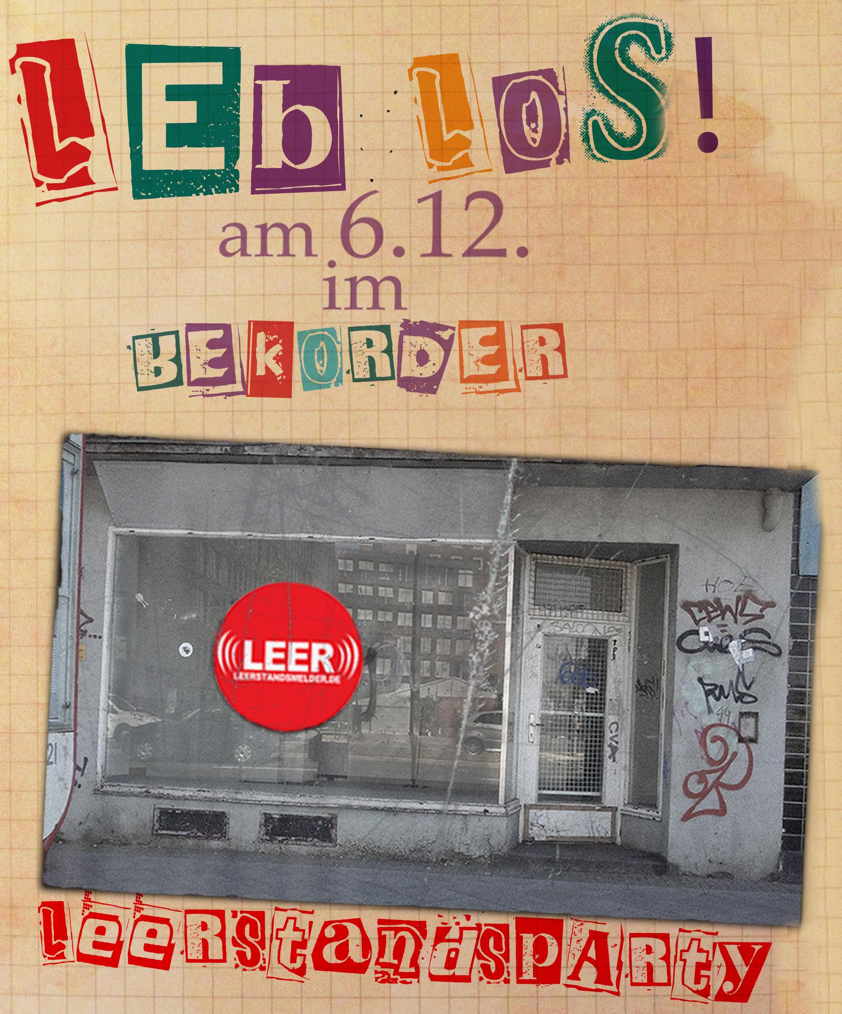 Leb los! Leerstandsparty in Dortmund