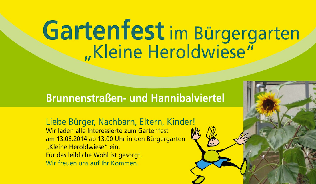 """Gartenfest im Bürgergarten """"Kleine Heroldwiese"""""""
