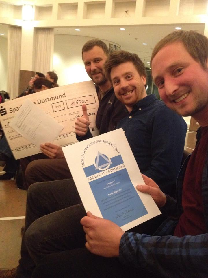 Rolf Morgenstern, Aquaponik Dortmund, Agendasiegel, Jan Bunse, Nils Rehkop, Nachhaltigkeit