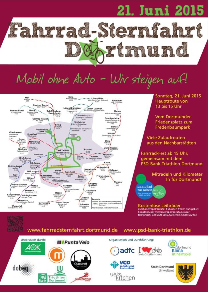 Fahrradsternfahrt Dortmund