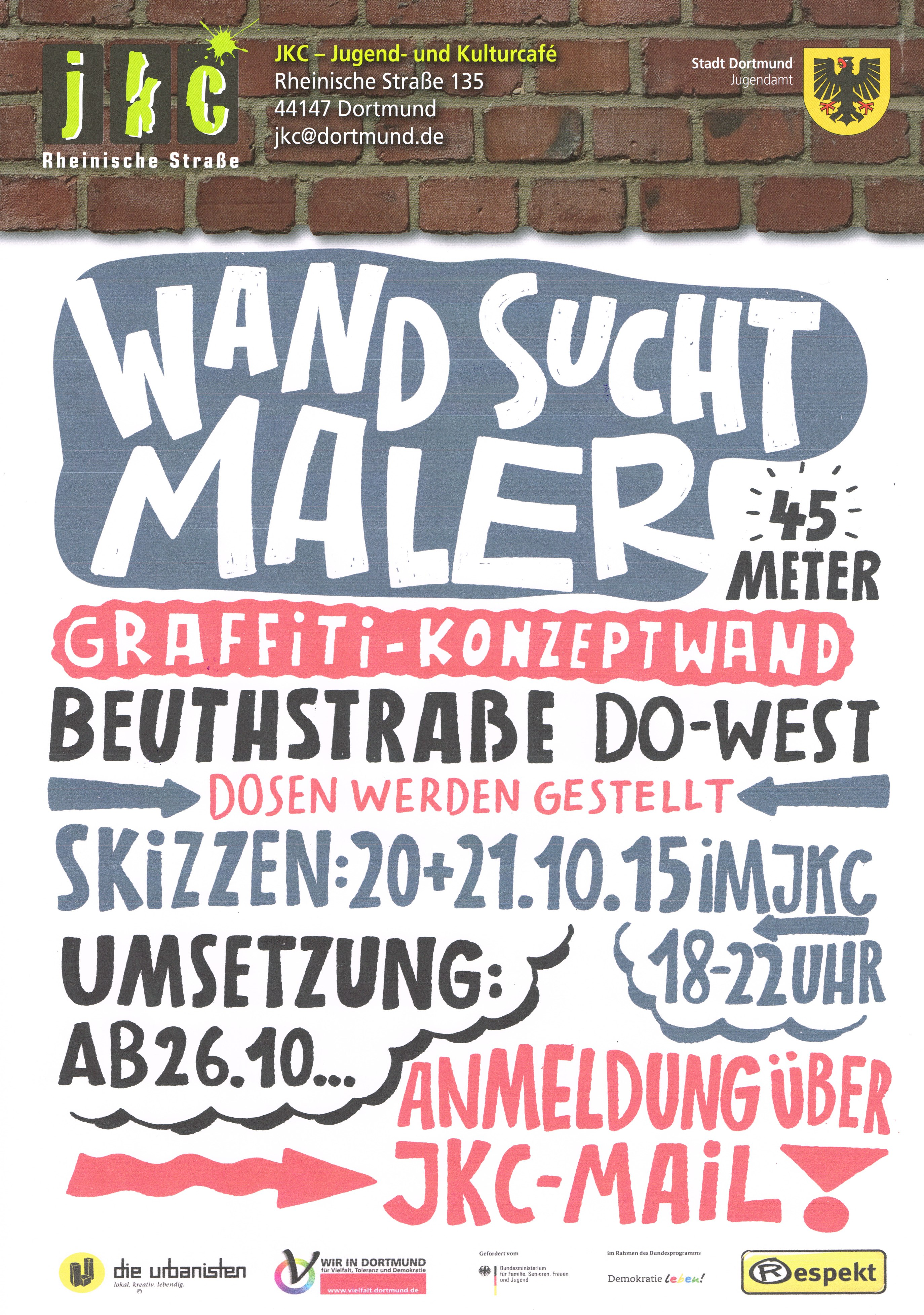 flyer Mauer sucht wand