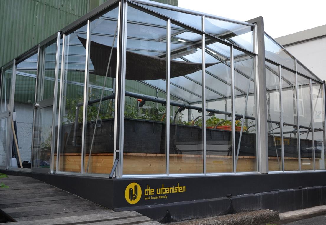 """""""Aquaponia na agricultura urbana"""" (= Aquaponik in der urbanen Agrikultur), Agricultura Urbana (BR), Oktober 2015"""
