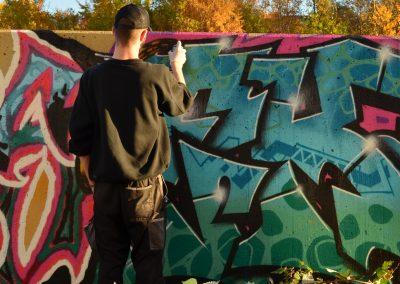 Wand Sucht Maler 09
