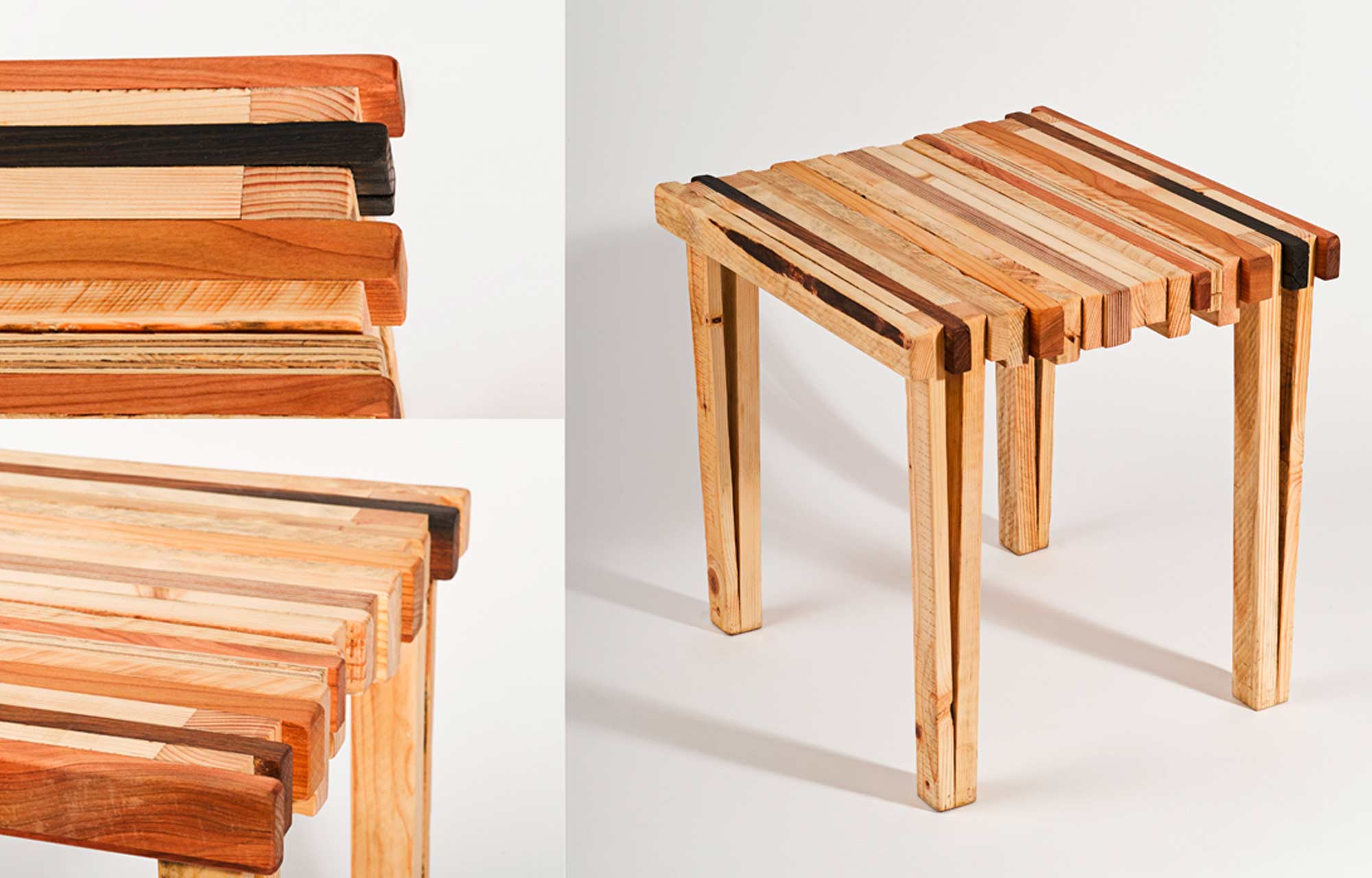 Kurt | Designhocker aus Restholz zum selber machen
