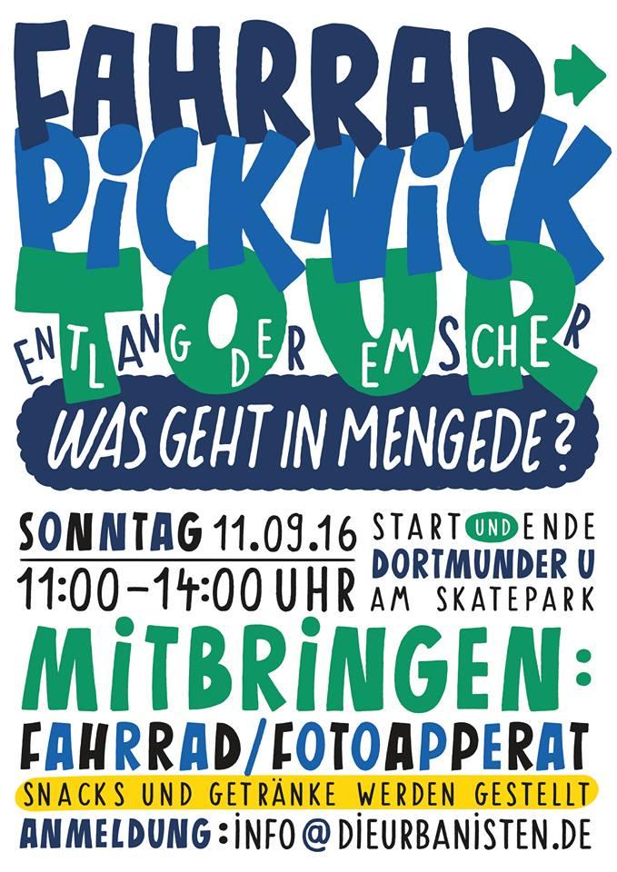 Fahrrad-Picknick-Tour entlang der Emscher