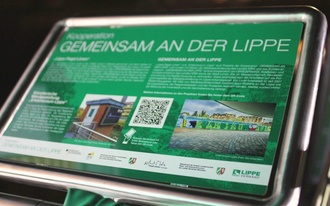 Einweihung des Lippe-Pegels und des Wandbilds in Lünen