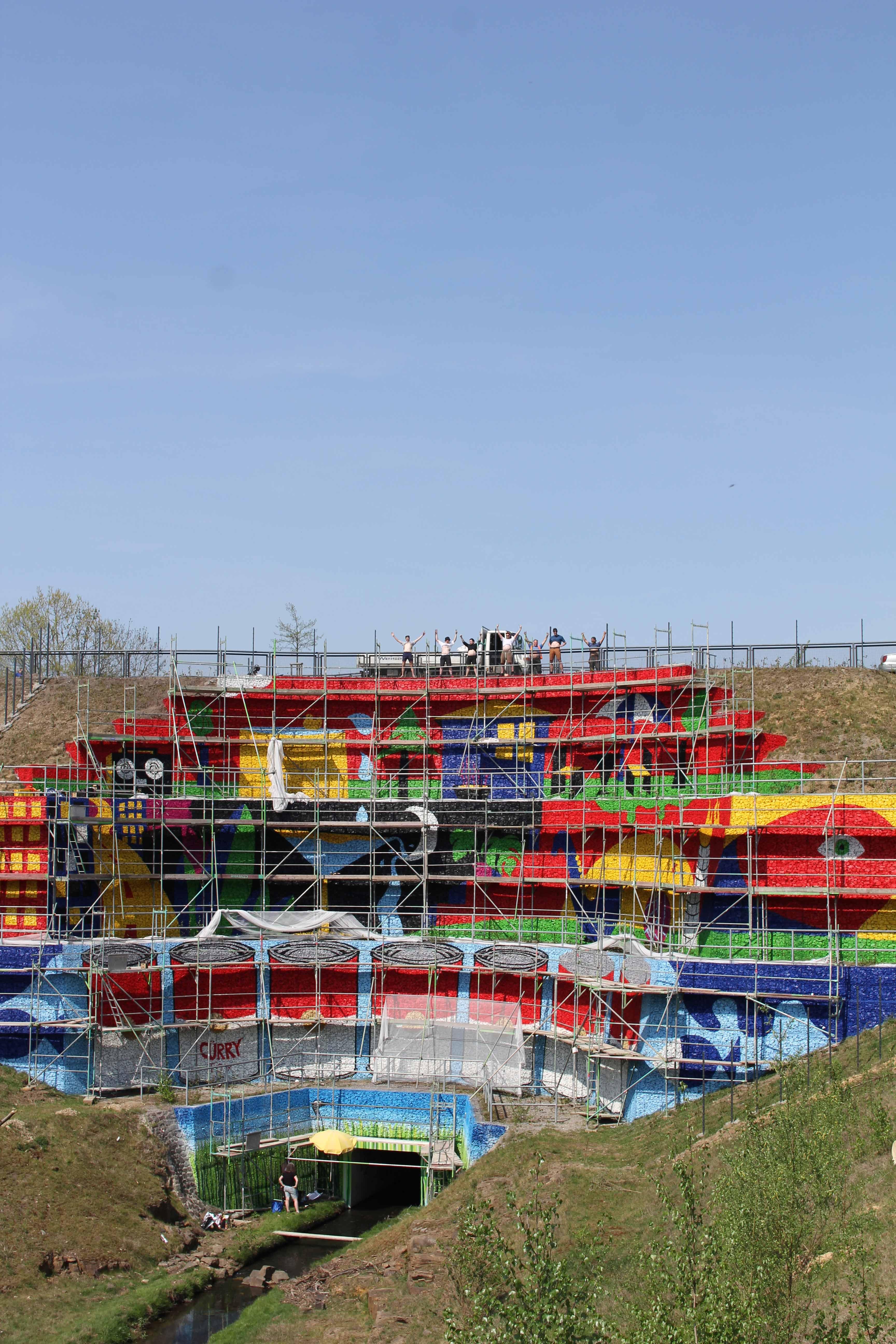 Gestaltung Der Gabionenwand Schondelle An Der B54 Die Urbanisten