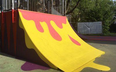 Künstlerische Gestaltung Skatepark am Stadtgarten
