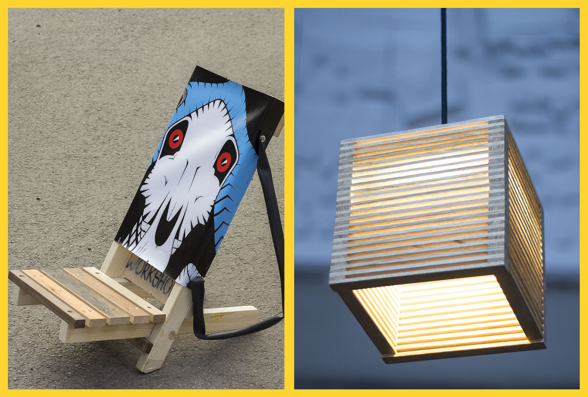 (Abgesagt) Designlampe EVA oder Strandstuhl ADAM selber machen