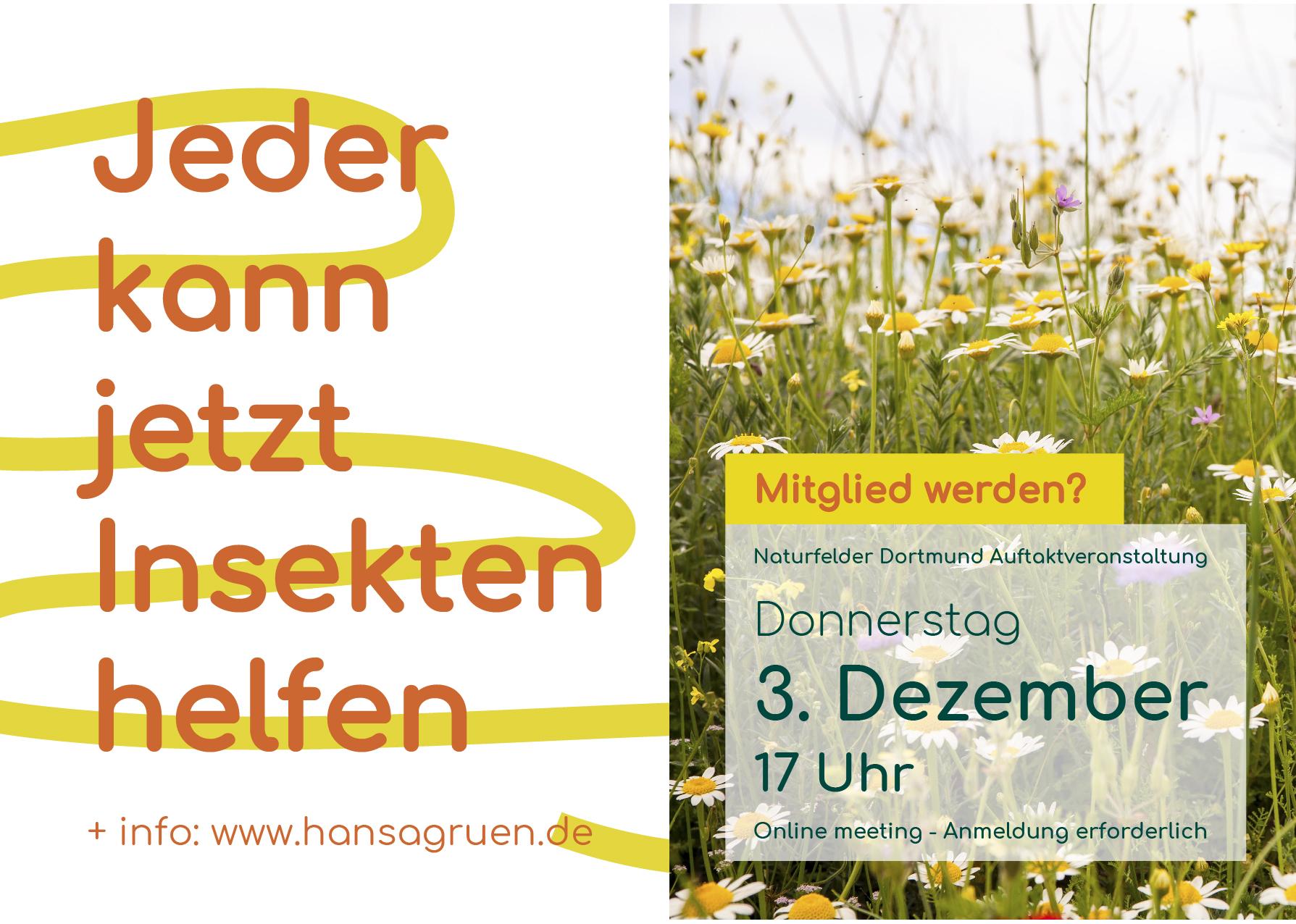 Naturfelder Dortmund Auftaktveranstaltung (online)