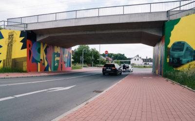 Künstlerische Gestaltung Schlachthofbrücke Recklinghausen