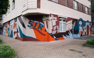 Künstlerische Fassadengestaltung Blumenstraße 49